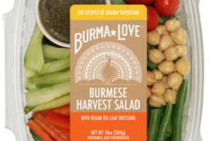 BURMESE HARVEST SALAD WITH VEGAN TEA LEAF DRESSING