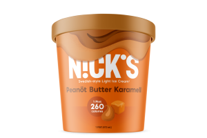 SWEDISH-STYLE PEANOT BUTTER KARAMELL LIGHT ICE CREAM
