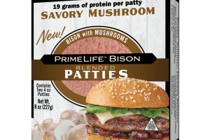 SAVORY MUSHROOM BLENDED PATTIES