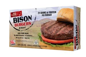 100% PURE BISON BURGERS