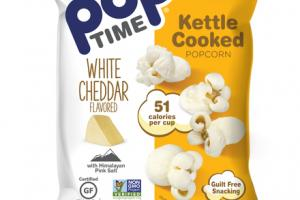 WHITE CHEDDAR FLAVORED KETTLE COOKED POPCORN