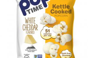WHITE CHEDDAR FLAVORED KETTLE COOKED POPCORN WITH HIMALAYAN PINK SALT