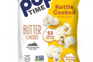 BUTTER FLAVORED KETTLE COOKED POPCORN WITH HIMALAYAN PINK SALT