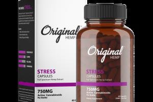 FULL SPECTRUM HEMP EXTRACT STRESS DIETARY SUPPLEMENT CAPSULES