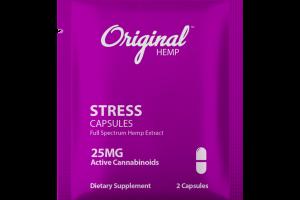 STRESS FULL SPECTRUM HEMP EXTRACT 25MG ACTIVE CANNABINOIDS DIETARY SUPPLEMENT CAPSULES