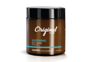 SOOTHING FULL SPECTRUM HEMP EXTRACT 1000 MG ACTIVE CANNABINOIDS PER JAR BODY CREAM, UNSCENTED