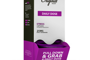STRESS DAILY DOSE FULL SPECTRUM HEMP EXTRACT 25 MG ACTIVE CANNABINOIDS DIETARY SUPPLEMENT CAPSULES