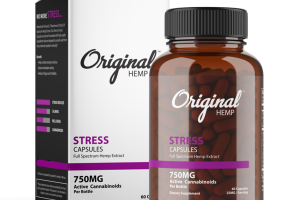 STRESS FULL SPECTRUM HEMP EXTRACT 25 MG ACTIVE CANNABINOIDS DIETARY SUPPLEMENT CAPSULES