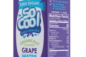 ORGANICALLY GRAPE FLAVORED WATER THIRST QUENCHER