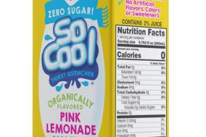 ORGANICALLY FLAVORED PINK LEMONADE WATER THIRST QUENCHER