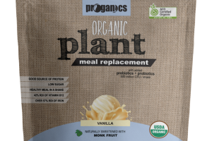 VANILLA ORGANIC PLANT MEAL REPLACEMENT NATURALLY SWEETENED WITH MONK FRUIT