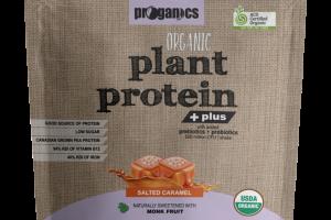 SALTED CARAMEL ORGANIC PLANT PROTEIN + PLUS WITH ADDED PREBIOTICS + PROBIOTICS