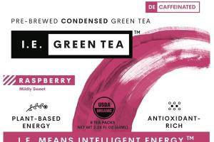 RASPBERRY MILDLY SWEET PLANT-BASED ENERGY PRE-BREWED CONDENSED GREEN TEA PACKS