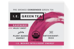MILDLY SWEET RASPBERRY PLANT-BASED ENERGY PRE-BREWED CONDENSED GREEN TEA