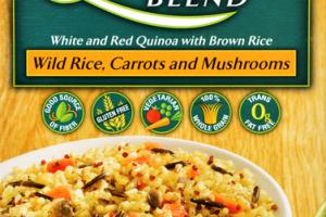 WILD RICE, CARROTS AND MUSHROOMS QUINOA BLEND