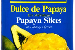PAPAYA SLICES IN HEAVY SYRUP