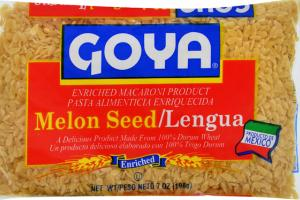 ENRICHED MACARONI PRODUCT, MELON SEED