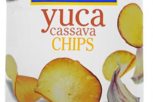 GARLIC YUCA CASSAVA CHIPS