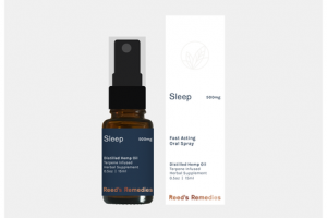 SLEEP 500MG DISTILLED HEMP OIL FAST ACTING ORAL SPRAY HERBAL SUPPLEMENT