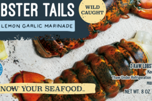 MAINE LOBSTER TAILS WITH LEMON GARLIC MARINADE
