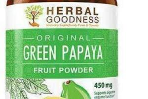 ORIGINAL GREEN PAPAYA FRUIT POWDER DIETARY SUPPLEMENT CAPSULES