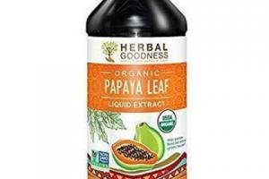 ORGANIC PAPAYA LEAF HELPS PROMOTE BLOOD AND IMMUNE SYSTEMS FUNCTION DIETARY SUPPLEMENT LIQUID EXTRACT