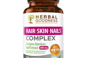 CONTAINS BAMBOO LEAF EXTRACT 600 MG HAIR, SKIN, NAILS COMPLEX DIETARY SUPPLEMENT CAPSULES