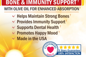 SUPERIOR STRENGTH VITAMIN D3 5000 IU BONE & IMMUNITY SUPPORT NATURAL DIETARY SUPPLEMENT SOFTGELS