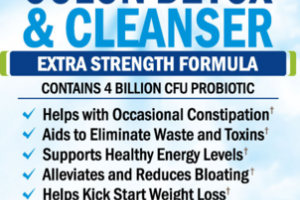EXTRA STRENGTH FORMULA 15-DAY FAST ACTING COLON DETOX & CLEANSER NATURAL DIETARY SUPPLEMENT VEGGIE CAPS