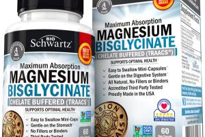 MAXIMUM ABSORPTION MAGNESIUM SUPPORTS OPTIMAL HEALTH DIETARY SUPPLEMENT VEGGIE CAPS
