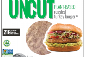 UNCUT PLANT-BASED ROASTED TURKEY BURGER PATTIES
