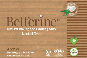 NATURAL BAKING AND COOKING STICKS, 65% COCONUT OIL SPREAD