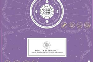 BEAUTY SLEEP SHOT A NATURAL SLEEP AID WITH 5G OF COLLAGEN AND VITAMIN C MULTIVITAMIN FRUIT JUICE DRINKABLE DOSES BOTTLES