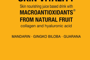 SKIN VITALITY MANDARIN, GINGKO BILOBA, GUARANA SKIN NOURISHING JUICE BASED DRINK