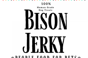 BISON JERKY 100% HUMAN GRADE DOG TREATS
