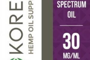 FULL SPECTRUM 30 MG/ML HEMP OIL SUPPLEMENT DROPS, GRAPE