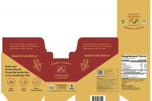 CANNABINOID CACAO BAR DIETARY SUPPLEMENT, GOLDEN TURMERIC
