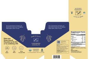 CANNABINOID CHOCOLATE DIETARY SUPPLEMENT, DARK & SALTY