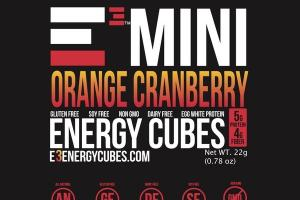 ORANGE CRANBERRY MINI ENERGY CUBES