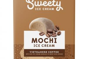 VIETNAMESE COFFEE MOCHI BITE SIZE ICE CREAM BUNDLED IN SWEET RICE DOUGH