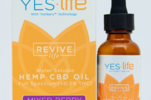 FULL SPECTRUM (<0.3% THC) REVIVE LIFE EXTRA STRENGTH WATER-SOLUBLE HEMP CBD OIL DIETARY SUPPLEMENT MIXED BERRY