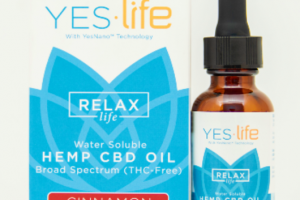 ORIGINAL STRENGTH RELAX LIFE WATER-SOLUBLE BROAD SPECTRUM (THC-FREE) HEMP CBD 500 MG OIL, CINNAMON