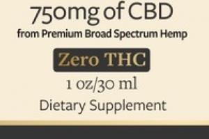 750MG ZERO THC BROAD SPECTRUM CBD OIL DIETARY SUPPLEMENT