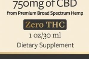 750MG OF CBD FROM PREMIUM BROAD SPECTRUM HEMP DIETARY SUPPLEMENT CBD OIL