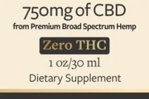 PREMIUM BROAD SPECTRUM CBD OIL 750MG ZERO THC DIETARY SUPPLEMENT