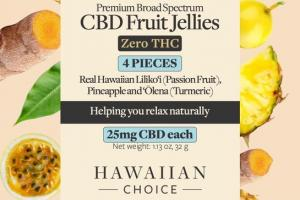 PREMIUM BROAD SPECTRUM CBD FRUIT JELLIES ZERO THC 25MG DIETARY SUPPLEMENT