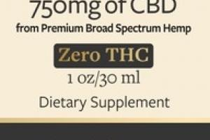 PREMIUM BROAD SPECTRUM 750MG OF CBD OIL DIETARY SUPPLEMENT