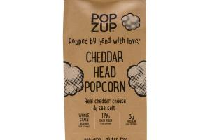 REAL CHEDDAR CHEESE & SEA SALT CHEDDAR HEAD POPCORN