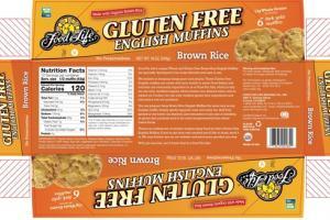 GLUTEN FREE BROWN RICE ENGLISH MUFFINS