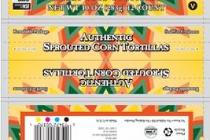 AUTHENTIC SPROUTED CORN WHEAT FREE TORTILLAS